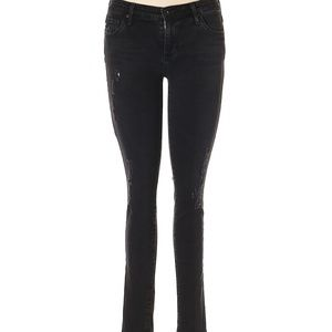 AG - Blk Destructed EMERSE LEGGING Jeans